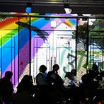 ホテルモントレ ラ・スール大阪:ダイナミックなプロジェクションマッピングで魅せた再入場シーン。サプライズと感動、笑顔が包んだパーティ
