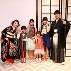 ホテルモントレ ラ・スール大阪:プロジェクションマッピングからの和装入場に大きな拍手!子どもゲストの余興に新郎も飛び入りで参加