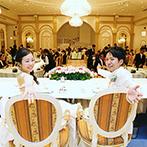 izumoden 豊橋:愛されるふたりのパーティは宮殿のような会場で。ロココ調の雰囲気が大好きな絵本の世界にぴったりとマッチ