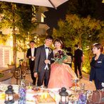北野異人館 旧レイン邸:夜のガーデンに登場したスイーツビュッフェは嬉しい驚き!外と中を自由に行き来し、なごやかにふれ合った