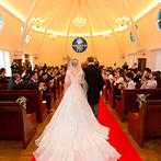 北野異人館 旧レイン邸:神戸北野の街のシンボル的教会での挙式。多くのカップルを送り出した本物の教会での誓いに胸がいっぱい