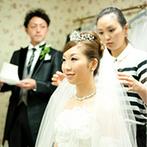 ホテル鐘山苑:理解あるプランナーのおかげで、オリジナリティ溢れる1日に!丁寧に花嫁姿を仕上げてくれたプロの技に感激