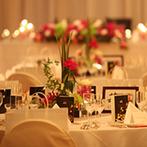 グランドプリンスホテル広島:絶景もごちそうになる披露宴会場で、美食に舌鼓。ふたりの想いを込めた料理で、ゲストをおもてなし