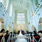アビー・ラ・トゥール教会(ウエディング セントラル パーク):讃美歌と音楽が響き渡る大聖堂で、厳かなセレモニー。挙式前、家族だけで過ごした時間も、大切な思い出