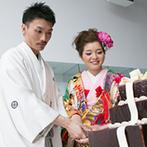 ベルヴィ ロワレーヌ:チョコレートケーキ入刀&ビッグスプーンでのファーストバイトが新鮮!友人のダンスの余興で盛り上がった