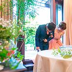 アイネスヴィラノッツェ宝ヶ池:自由度の高い貸切邸宅を、ふたり色に染めたパーティ。ガーデンを活かしたおもてなしで、ゲストを笑顔に