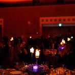 ホテルグランヴィア京都:「初めて見た!」と会場中が沸いたキャンドルのイリュージョン。サプライズ希望のふたりにプランナーが提案