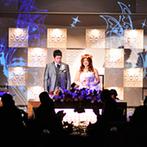 マリアージュ グランデ(MARIAGE GRANDE):ロマンチックな階段入場も叶うシックなパーティ会場。約100名のゲストを京都らしく京懐石でおもてなし