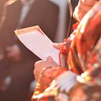 マリアージュ グランデ(MARIAGE GRANDE):ドレスや和装に合わせたプロジェクター演出で入場シーンが華やかに。新郎手作りのDVD上映もゲストに大好評