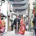 マリアージュ グランデ(MARIAGE GRANDE):前撮りを京都らしいスポットで敢行。想像以上の仕上がりは、カメラマンの綿密な下見と高い技術の賜物