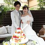 ア・ラ・モード パレ&ザ・リゾート:プールやガーデン付きの贅沢な空間でパーティ。写真映えするケーキや、美味しい料理もゲストの話題に