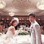 宝塚ホテル:会場の雰囲気を活かしたコーディネートでゲストをおもてなし。一番こだわった料理はゲストにも大好評!