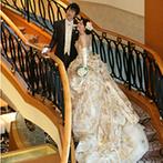 岐阜都ホテル:「祖父母が喜ぶ豪華な披露宴を叶えたい」。ホテルならではのスケール感あふれる会場はイメージにぴったり