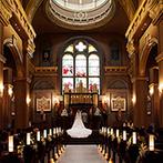 ノートルダム下関 Notre Dame SHIMONOSEKI:ステンドグラスが煌く大聖堂やホワイエ付きのパーティ会場で憧れの一日を。料理への柔軟な対応も嬉しかった