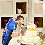 アートホテル上越:いとこの子どもふたりがケーキプレゼンターに。『二人羽織』でのファーストバイトで、ゲストは大爆笑!
