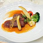 アール ベル アンジェ Nagoya:オリジナル料理に加え、食材にまでこだわった特別なメニューを叶えてくれた。当日のスタッフの心遣いも好評