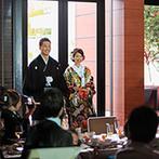 アルカンシエルガーデン名古屋:ふたりの新居のように自由に飾ったパーティ空間。らせん階段やガーデンを使って、入場にわくわくをプラス