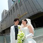 横浜ベイシェラトン ホテル&タワーズ:横浜駅西口より徒歩1分で、空港からのアクセスも便利!大理石が輝くチャペルや親身な対応も決め手になった