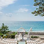 指帆亭:海を見晴らすロケーションに一目惚れ!1日1組限定の貸切り会場を、ふたりの別荘のように自由に使って