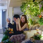 ST. MARGARET WEDDING(セント・マーガレット ウエディング):心から楽しめるひと時になるよう、結婚式のテーマは【JOY】。口どけの良いホイップバターにも絶賛の声