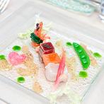 アルカンシエル横浜 luxe mariage:ヤシの木が出迎えるリゾート感たっぷりの式場で、理想の空間を発見!心に残っていたおいしい料理も決め手