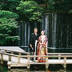 目黒雅叙園(ホテル雅叙園東京):和装が似合う会場を探していたふたりは、訪れた瞬間に包まれる厳かな雰囲気に「ココしかない!」と決定