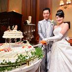 ホテル ザ・マンハッタン:洗練された上質感あふれるパーティ会場。料理を組み合わせたオリジナルメニューでゲストをもてなした