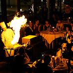 TAKASAKI MONOLITH(高崎モノリス):美味しい料理をメインにおもてなしが光るパーティ。シェフが仕上げる炎のフランベでゲストの視線をくぎづけ