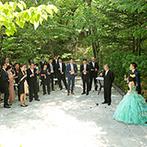那須高原ミッシェルガーデンコート:あえて中座を行わず、ゲストとの時間を重視。歓談や写真撮影を心ゆくまで楽しみ、幸せな気持ちで満たされた
