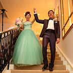 アーククラブ迎賓館 水戸:階段入場や新郎から新婦へのサプライズプレゼント、ナイトデザートビュッフェ…ロマンチックな演出が続々