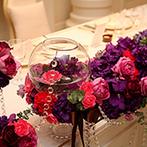 アーカンジェル迎賓館 宇都宮:アンティークに「大人可愛く」飾ったオリジナルの空間。ケーキ入刀ではゲストも立ち上がって写真撮影!