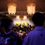 ホテル阪急インターナショナル:男友達の気合の入った余興で、会場中が大盛り上がり。ピアノの生演奏が感動を引き立て、ラストは万歳三唱も
