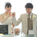 新横浜プリンスホテル:横浜の絶景をバックに、大切なゲストに愛を誓う人前式。結婚証明の積み木は、今でも見返す宝物になった