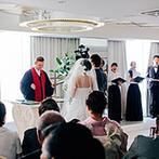 新横浜プリンスホテル:地上140mの大パノラマが目の前に広がる「スカイチャペル」。カーテンオープンの演出にゲストも感動
