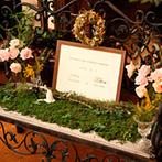 アルバート邸:ミモザ、かすみ草、グリーン…バンケットはまるで春のお花畑!ブーケやヘッドドレスも、野花で統一して