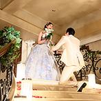 湘南セント・ラファエロチャペル:新郎が新婦へブーケを渡す演出で再入場!フォトラウンドや新郎新婦お互いへのサプライズで温かな雰囲気に