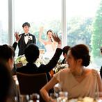 パレスホテル東京(PALACE HOTEL TOKYO):ふたりの「生の声」でゲストを盛り上げた手作りのパーティ。自然と笑顔がこぼれる楽しいひと時が実現した