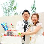 マリエール太田:リゾート気分満点のコーディネートでゲストをおもてなし。フカヒレ丼やオリジナルの生ケーキにみんなが笑顔