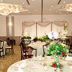 ホテルオークラ東京ベイ:スタッフや料理は、知名度が高いホテルならでは。組数限定のウエディングで、優雅な一日を叶えることに