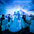 ホテルオークラ東京ベイ:迫力あふれる照明&音響演出でどんなシーンも印象的に。ふたりらしさを大切にしたコーディネートも理想通り