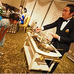 ホテルオークラ東京ベイ:ふたりの挨拶で始まった少人数のパーティ。大人も子どもも喜ぶ目にも楽しい料理の演出でおもてなし