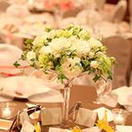 川越氷川神社・氷川会館:装花での空間コーディネートや美味しい料理でおもてなし。オリジナル料理はゲストの笑顔をさらに引き出した