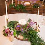 THE HILLTOP TERRACE NARA(ザ・ヒルトップテラス奈良):限られた条件の中で、気持ちよく準備を整えてくれたプランナー。コーディネーターの腕が光る装花にも感激!
