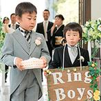 神戸迎賓館 旧西尾邸(兵庫県指定重要有形文化財):可愛い子どもゲストが登場するなど終始アットホームな雰囲気。緑溢れるガーデンでアフターセレモニーも満喫