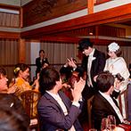 神戸迎賓館 旧西尾邸(兵庫県指定重要有形文化財):ふたりとゲストを大切に想い、細やかに配慮してくれたスタッフたち。親身な対応のおかげで自然体の笑顔に