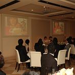 ザ エクセレントヒルズ 神戸北野:男性ゲストも大盛上がり!賞品付新婦のドレス当てクイズやブロッコリートス、新郎作のDVDではゲストも号泣