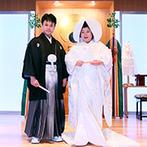 成田ビューホテル:80名以上のゲストが参列できる厳かな館内神殿で、憧れの神前式を。ホテルならではのサービスにも安心できた