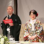 KKRホテル東京:「ふたりの出身地×ゲスト目線」でアレンジしたコース料理。新潟弁のプロップスを使い、各卓フォトも和やか