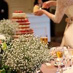 ホテルモントレ京都:挙式は王道スタイルで、披露宴は自分たちらしく!こだわりの3段ネイキッドケーキで楽しくファーストバイト
