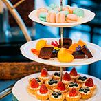 ホテルモントレ京都:会場に隣接したホワイエもフル活用!デザートビュッフェや地元の食材を生かした料理で美味しいおもてなし
